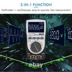 2-in-1 Handheld Digital Oscilloscope Storage Scopemeter True RMS DMM AC/DC Meter