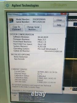 Agilent DSO-X 92004A 20GHz 80GSa/s Infiniium Digital Storage Oscilloscope OPT. 8