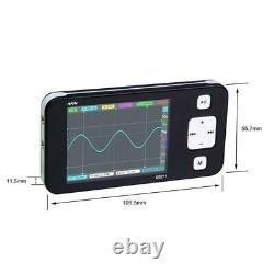 DS0211 Mini 2-CH Digital Storage Oscilloscope Handheld Scope MCX Probe Black