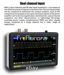 FNIRSI 1013D 7inch 2CH Digital Storage Oscilloscope 1GS 100MHz Bandwidth Rate