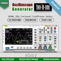 FNIRSI 1014D 2 In 1 7In Digital Oscilloscope Input Signal Generator 1GB Storage