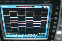 GW Instek GDS-2204A 200MHz, 2GS/s, 4-Channel Digital Storage Oscilloscope (VPO)
