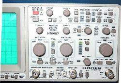 HAMEG HM407 40MHz Digital Analog Scope UniversalOszilloskop Storage Oscilloscope