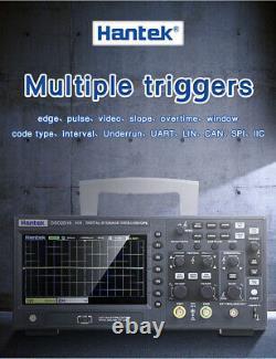 Hantek DSO2C10 2D10 Oscilloscope 2 Channel Digital Storage 1Gsa/s +Generater Neu
