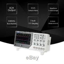 Hantek DSO4104B Oscilloscope 100MHz 4Channels 1GSa/s + 64K Digital Storage NEW