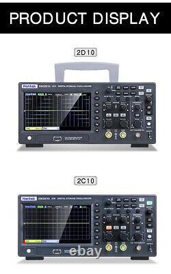 Hantek Digital Storage Oscilloscope DSO2C10 2CH 100Mhz 1GS/s+2D10 Signal Source