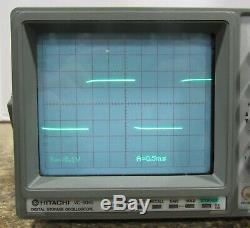 Hitachi VC-6045 2-Channel Digital Storage Oscilloscope For Parts Or Repair