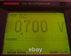 Keithley 125 Scopebook 20 MHz Digital Storage Oszilloskop + Multifunktions-DMM