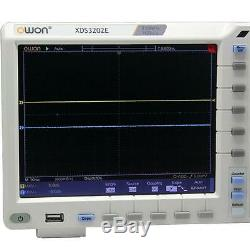 OWON 8 XDS3202E Storage Oscilloscope 200Mhz 1G 2chs free Decoding Kit RS232 SPI