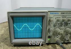 Tektronix 2210 50/10 MHz Analog/Digital 2 Channel Storage Oscilloscope No Handle