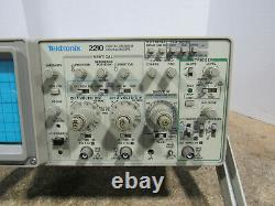 Tektronix 2210 50/10 MHz Analog/Digital Two Channel Storage Oscilloscope Tested