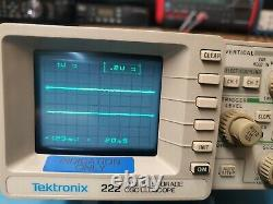 Tektronix 222 Digital Storage Osxilloscope Nice Condition