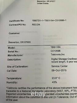 Tektronix TBS 1154 TBS1154 Digital Storage Oscilloscope DSO 150MHz New in Box
