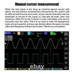 1013d Oscilloscope De Stockage Numérique À Double Canal Portatif 100mhz Bande Passante 1gs
