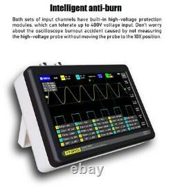 1013d Portable 2ch Digital Storage Oscilloscope 100mhz Bande Passante 1gs Échantillon Rat