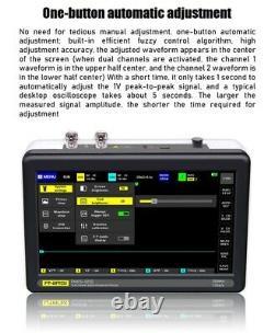 1013d Portable 2ch Oscilloscope De Stockage Numérique 100mhz Bande Passante 1gs Rats Échantillons