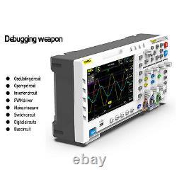 1014d Comprimé De 7 Pouces Oscilloscope Stockage Numérique 1gs/s Taux D'échantillonnage Blanc