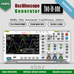 1014d Fnirsi Stockage Numérique D'oscilloscope Générateur De Signal À Double Canal 100mhz