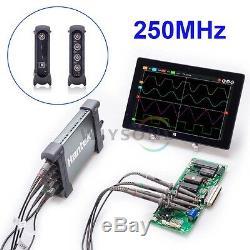 6254bc 4 Ch 1gsa / 250mhz De Bande Passante Basée Sur Pc Usb De Stockage Numérique Oscilloscope
