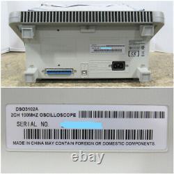 Agilent Dso3102a 100mhz 1gsa/s Oscilloscope De Stockage Numérique À 2 Canaux Testé
