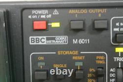 Bbc Goerz Metrawatt M6011 20 Mhz Oscilloscope De Stockage Numérique
