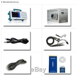 Dso5102p Hantek 100mhz 1gsa / S Affichage 7inch Oscilloscope À Mémoire Numérique