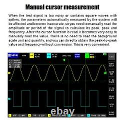 Fnirsi 1013d Poche De 7 Pouces 2ch Stockage Numérique Oscilloscope 100mhz Bande Passante 1gs