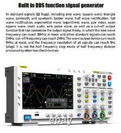 Fnirsi 1014d 2 En 1 7 Dans Générateur De Signal D'entrée D'oscilloscope Numérique 1 Go De Stockage