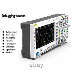 Fnirsi 1014d 7 Oscilloscope Numérique 2 Canaux 1 Go Stockage 1gsa/s Taux D'échantillonnage