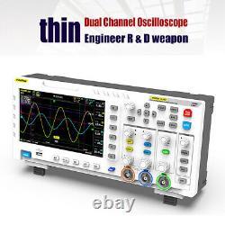 Fnirsi-1014d 7 Tft LCD 2 Générateur De Signal De Canal Oscilloscope De Stockage Numérique