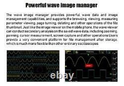 Fnirsi 1014d 7en Oscilloscope Numérique Tft Affichage LCD Dual Channels 1gb Stockage