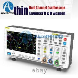 Fnirsi 1014d Stockage Numérique Générateur De Signal D'oscilloscope À Deux Canaux 100mhz