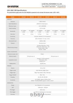 Gw Instek Gds-207 Oscilloscope De Stockage Numérique 70mhz Dso 2 Canaux 1gs/s DMM