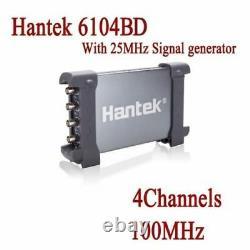Hantek 6104bd 100mhz 4ch Pc 1gsa/s Générateur D'oscilloscope De Stockage Numérique Usb