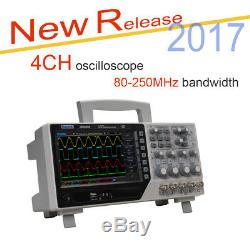 Hantek Dso4000 Oscilloscope 100mhz 4 Canaux 1gsa / S + 64k Digital Storage Nouveau