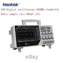 Hantek Dso4254b Digital Storage Oscilloscope 4channel 64k 250mhz 1gsa / Real Ti