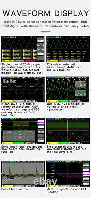 Hantek Oscilloscope Dso2c10 2d10 2 Canal Stockage Numérique 1gsa/s + Générer
