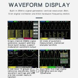 Hantek Oscilloscope Dso2c10 2d10 2 Channel Digital Storage 1gsa/s +generator Uk