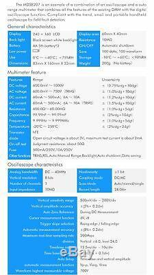 Mustool Mds8207 40mhz 200msp Digital Storage Oscilloscope Multimètre Oscilloscope