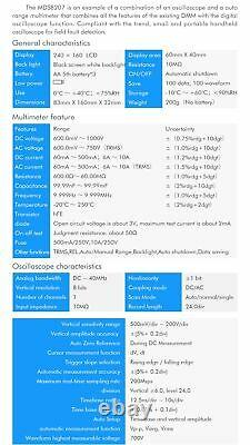 Mustool Mds8207 Scopemeter Intelligent Digital Storage Multimètre DMM Ac/d
