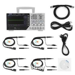 Nouveau Hantek Dso4254c Digit Storage Oscilloscope 4ch 250mhz Signal Source 1gsa/s