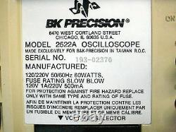 Oscilloscope De Stockage Numérique Bk Precision 2522a