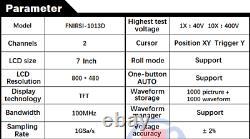 Oscilloscope De Stockage Numérique Fnirsi 1013d 7 Pouces 2ch 100mhz Bande Passante 1gs