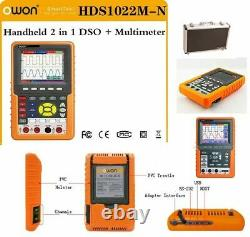 Owon Hds1022m-n 2 Dans 1 Oscilloscope+multimètre De Stockage Numérique Portable Dso