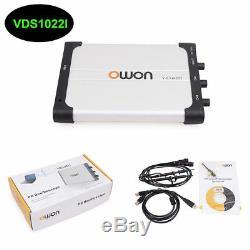 Owon Vds1022i Isolation Usb Pc Digital Storage Oscilloscope 25mhz 2 + 1 Ch 100ms / S