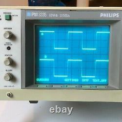 Pm3335 Phillips 60 Mhz Digital Storage Oscilloscope Good Condition Vendeur Américain