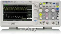 Siglent Sds1102cml+ 100mhz 2 Ch Oscilloscope De Stockage Numérique