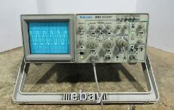 Tektronix 2210 50/10 Mhz Analogique /digital Two Channel Storage Oscilloscope Testé