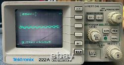 Tektronix 222a Digital Storage Oscilloscope Travailler Avec 2 Sondes Lire