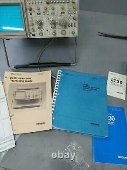 Tektronix 2230 100mhz Oscilloscope De Stockage Analogique/numérique À Deux Canaux